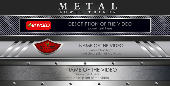 VideoHive Metal Lower Thirds 2594958