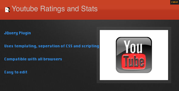 Rabid Youtube Statistics and Ratings - WorldWideScripts.net Item for Sale
