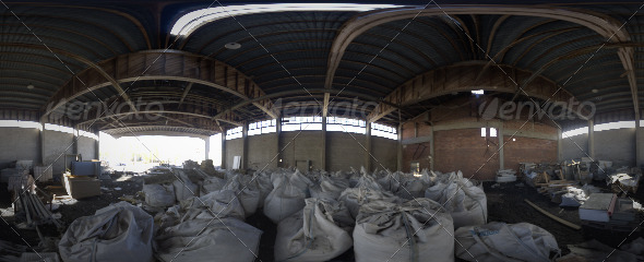 Industrial Area HDRI – Abandoned Hall - 3DOcean Item for Sale