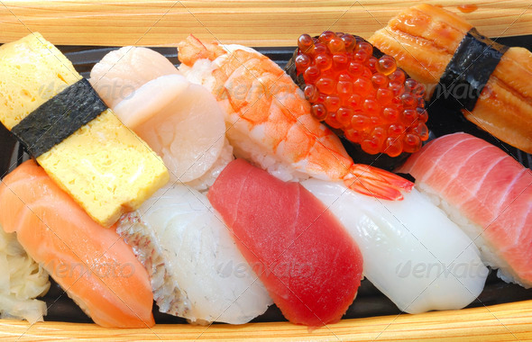 Japanese sushi set - Stock Photo - Images