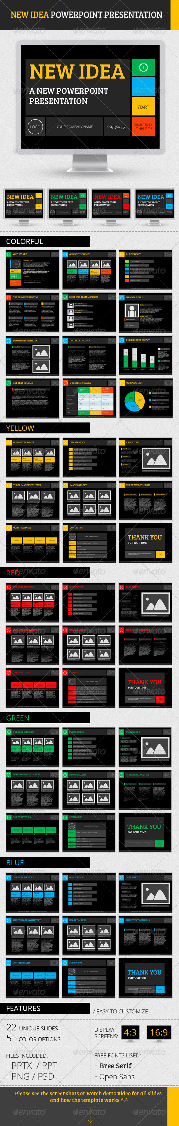 New Idea PowerPoint Presentation - Powerpoint Templates Presentation Templates
