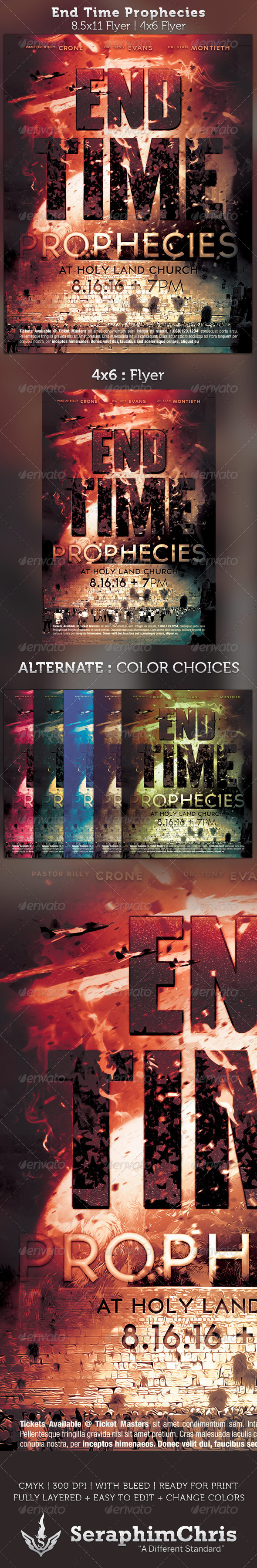 GraphicRiver End Time Prophecies Flyer Template 2612058