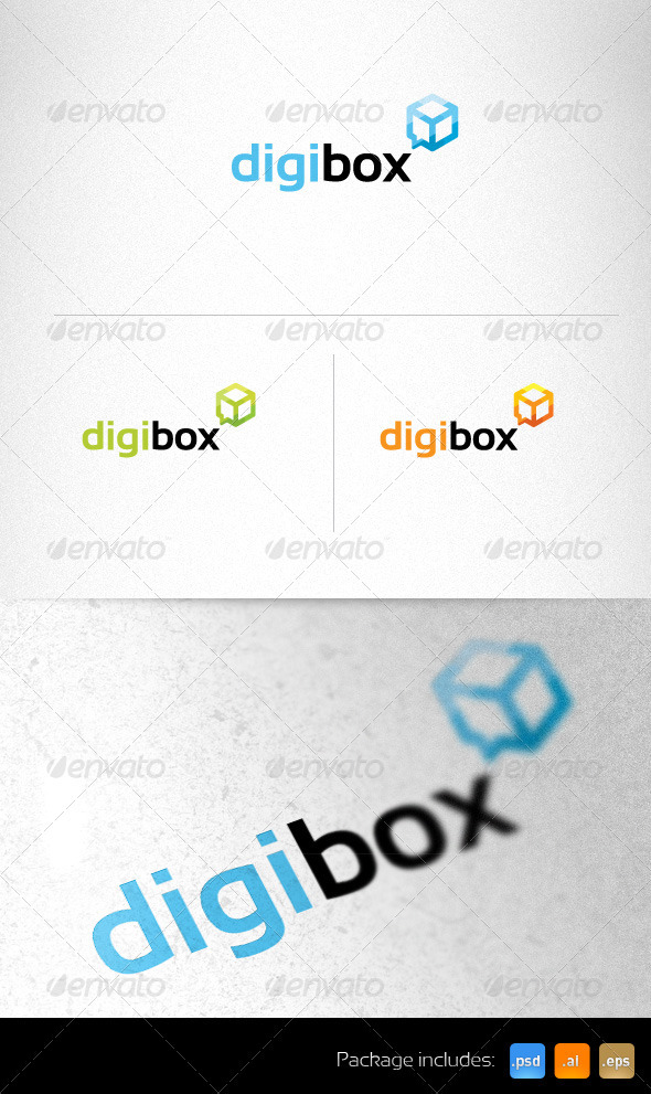 Digital Cube Communications Creative Logo - Objects Logo Templates