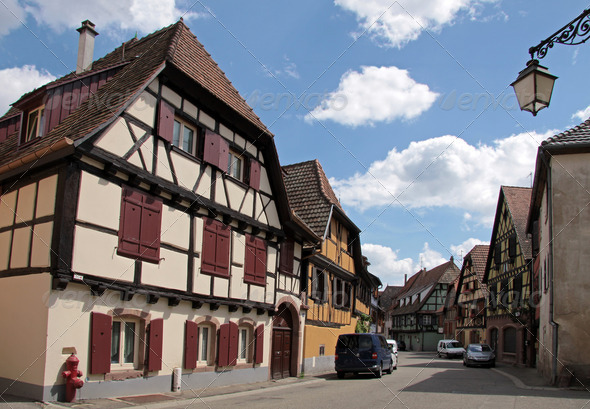Half-timbered houses - Stock Photo - Images