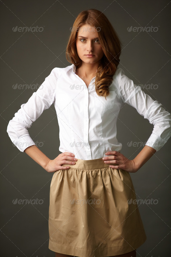 Portrait of young female - Stock Photo - Images