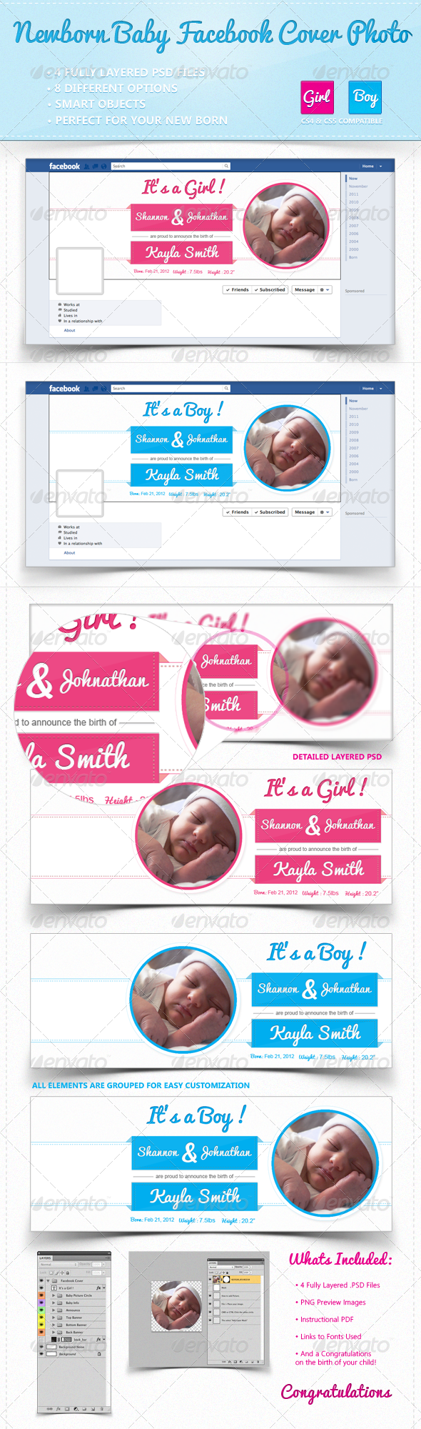 GraphicRiver Facebook Timeline Cover New Born 2612939