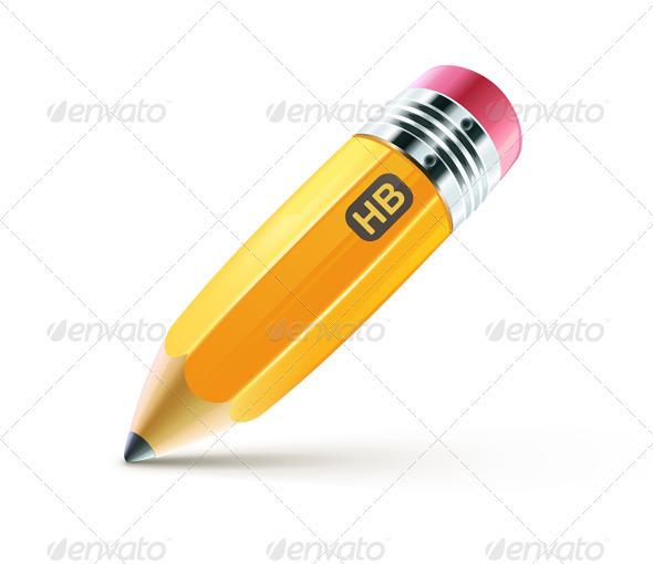 GraphicRiver Yellow pencil 2612984