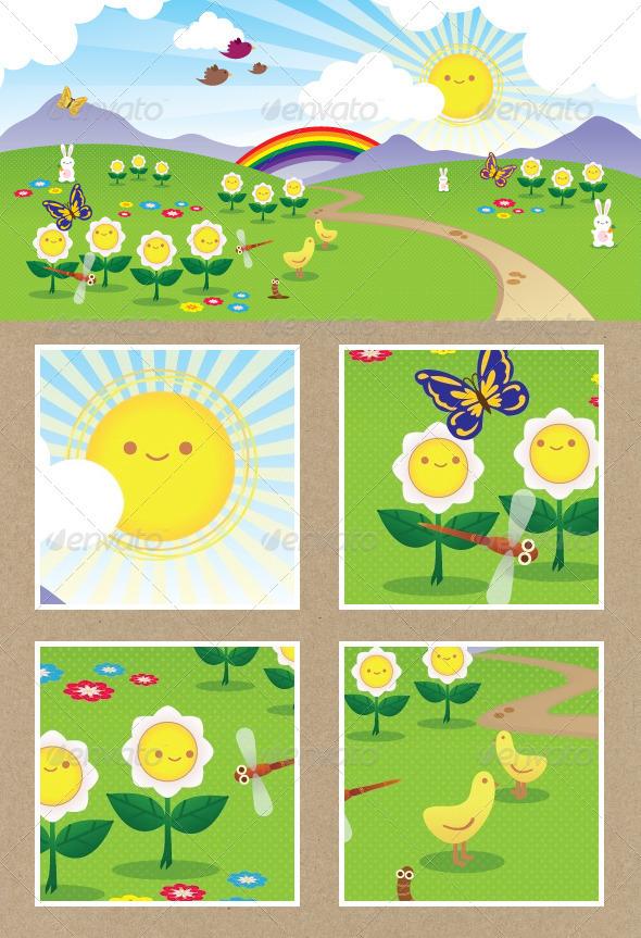 Cheerful Landscape - Landscapes Nature