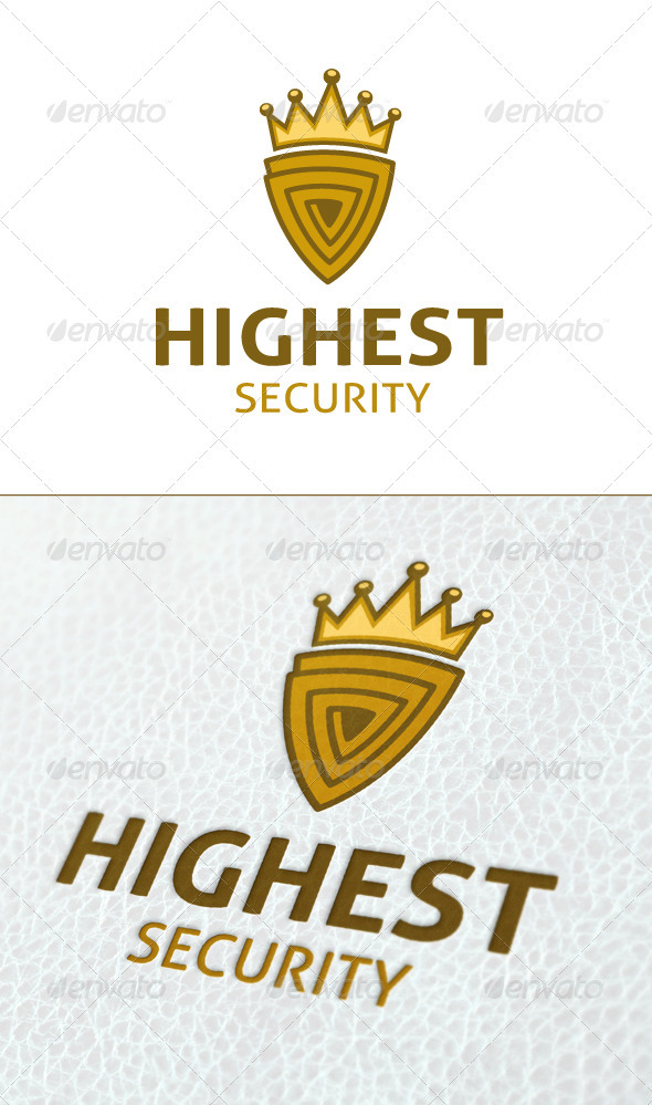 Highest Security Logo template - Crests Logo Templates