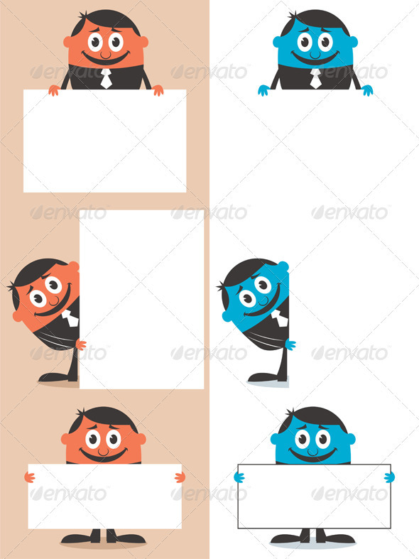 GraphicRiver Businessman Behind Sign 2613041