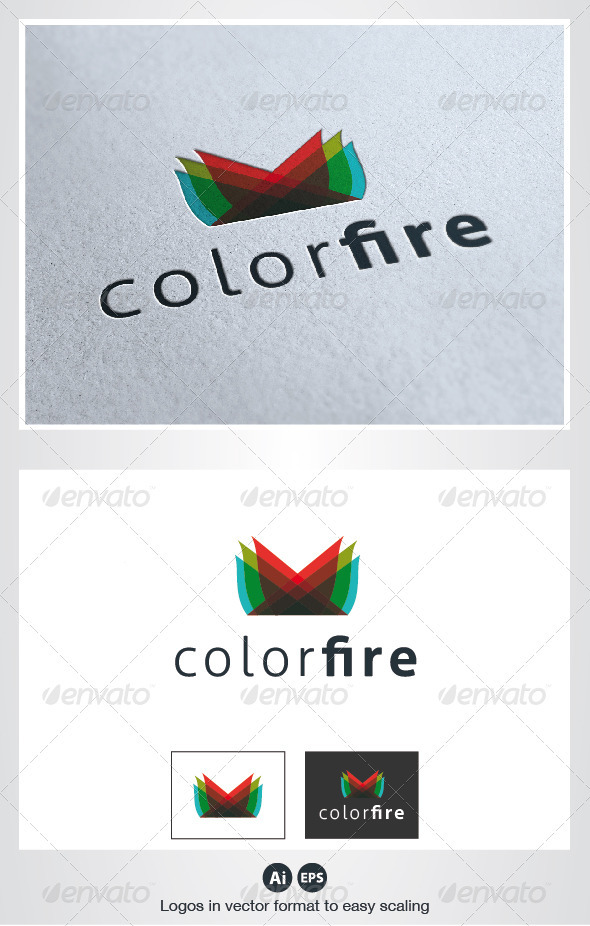 Color Fire Logo - Symbols Logo Templates