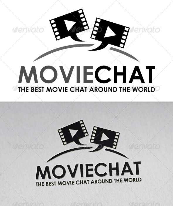 Movie Chat Logo - Symbols Logo Templates