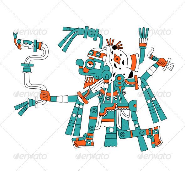 GraphicRiver Mayan god of rain Tlaloc 2613235