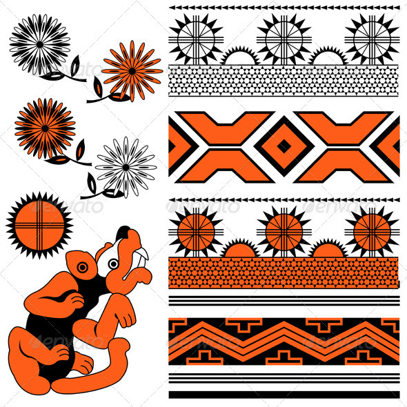 Simple Aztec Symbols