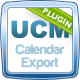 UCM Plugin: Calendar iCal / Google Calendar Export - CodeCanyon Item for Download