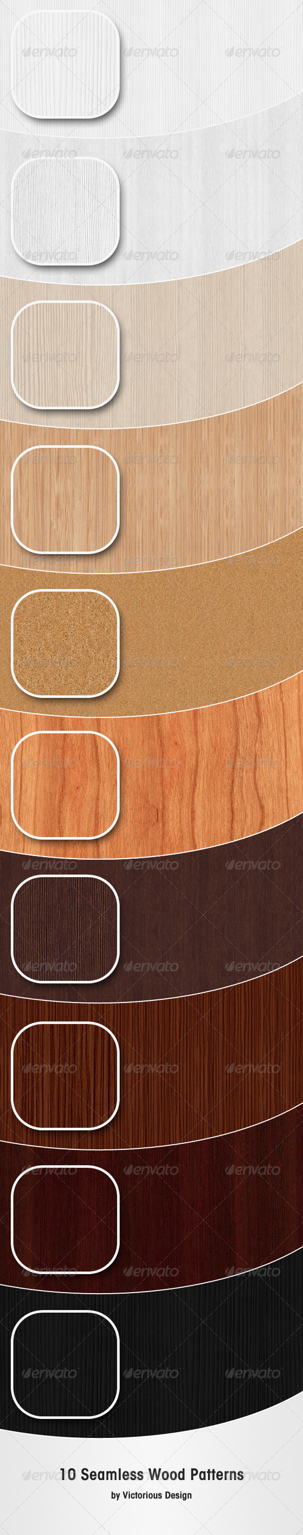 GraphicRiver 10 Seamless Wood Patterns 2613340