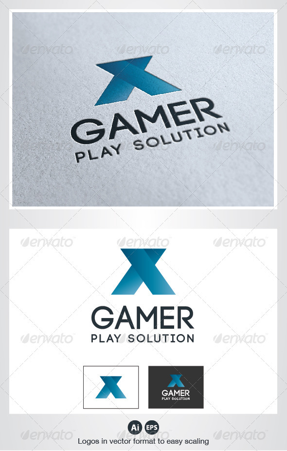 x Gamer Logo - Letters Logo Templates
