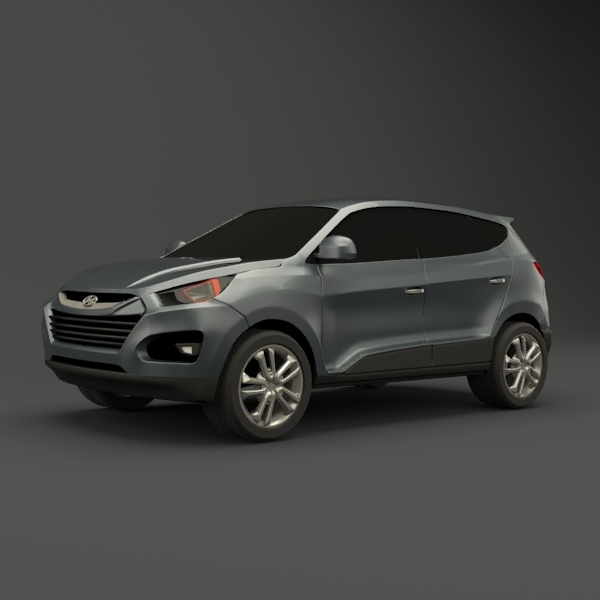 3DOcean Hyundai SUV vehicle redesigned 2613573