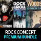 Rock Concert Premium Flyer Bundle PSD Templates - GraphicRiver Item for Sale