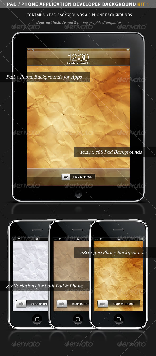 iPad / iPhone App Developer Kit 1 > Paper - Backgrounds Graphics