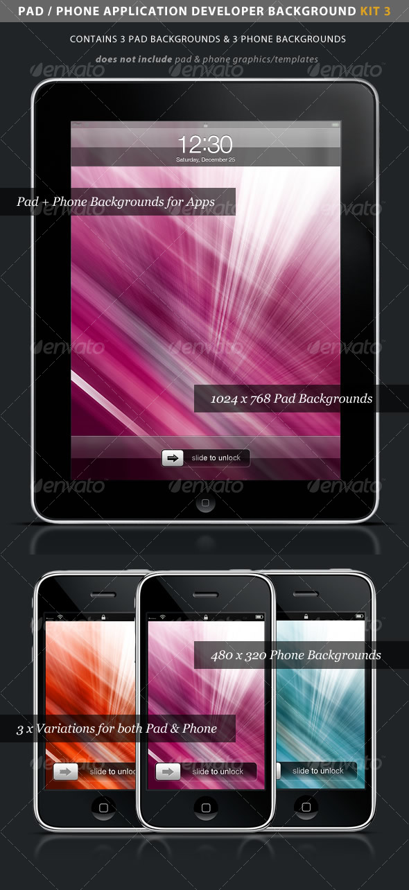 GraphicRiver iPad iPhone App Developer Kit 3 > Color Rays 94792