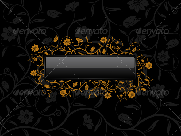 Floral banner for sample text