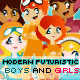 Boys and Girls Futuristic Modern Creation Kit - GraphicRiver Item for Sale