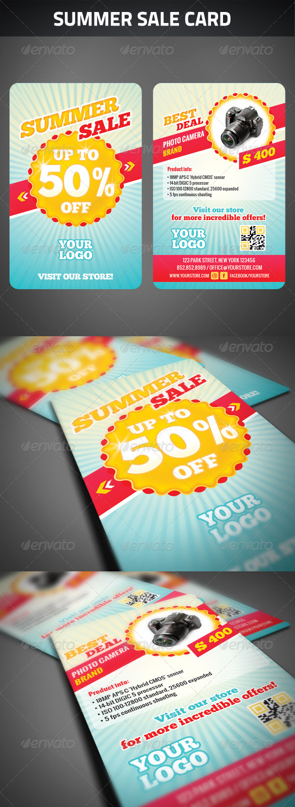 Summer Sale Card - Cards & Invites Print Templates
