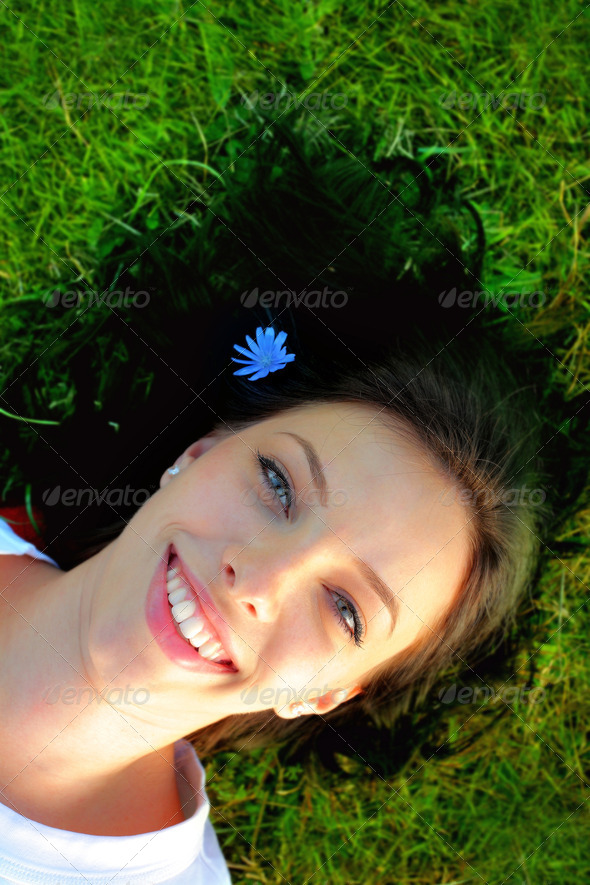 Young woman relaxing - Stock Photo - Images