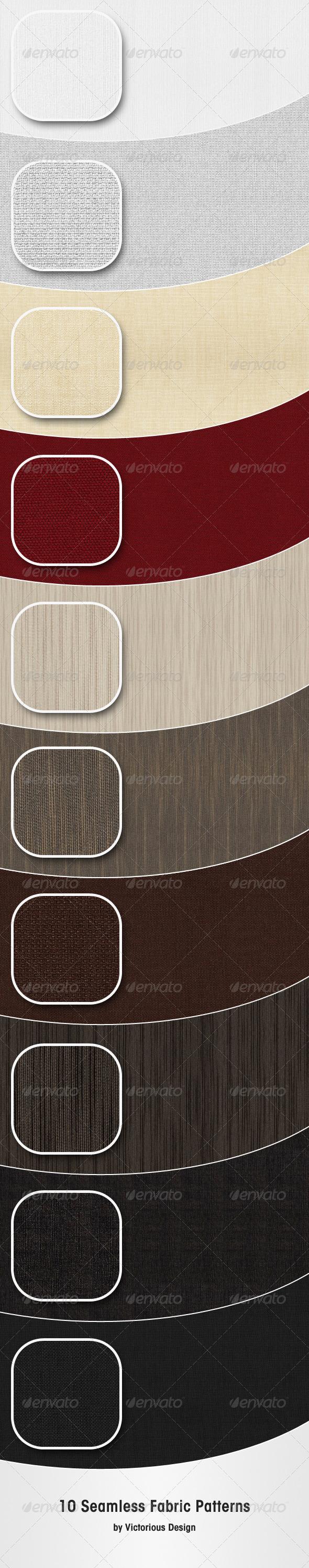 10 Seamless Fabric Patterns - Textures / Fills / Patterns Illustrator