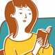 Download Vector Girl With A Book