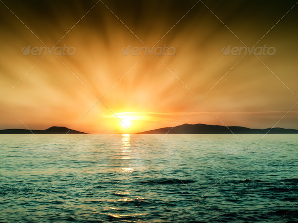 Hot sunset - Stock Photo - Images