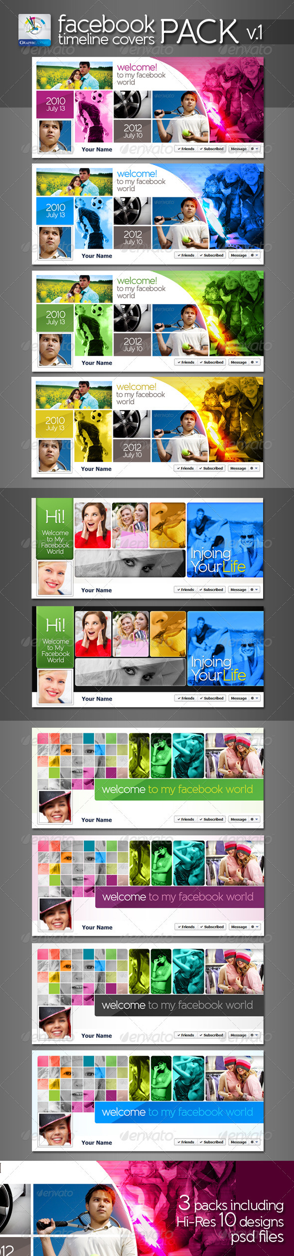 GraphicRiver Modern Facebook Timeline Cover Pack v.1 2614426