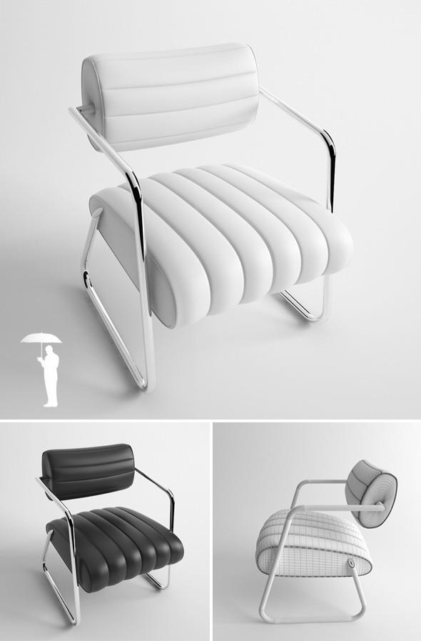 3DOcean Bonaparte armchair 2614510