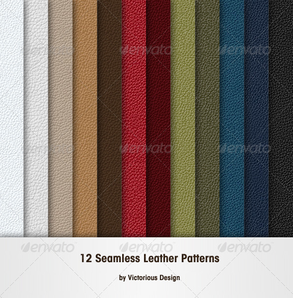 12 Seamless Leather Patterns - Nature Textures / Fills / Patterns