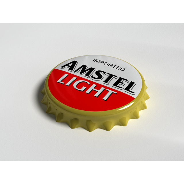 Amstel Bottle Tin Cap - 3DOcean Item for Sale