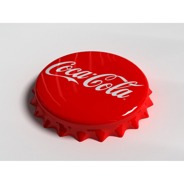 Cola Bottle Tin Cap - 3DOcean Item for Sale