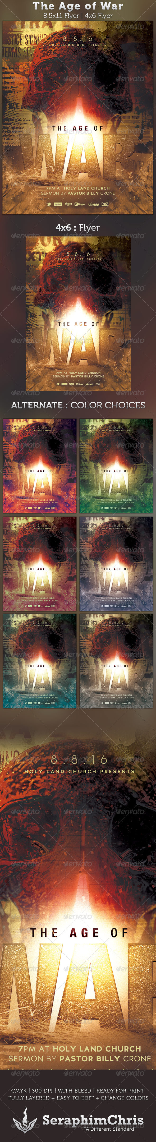 GraphicRiver The Age of War Church Flyer Template 2615196