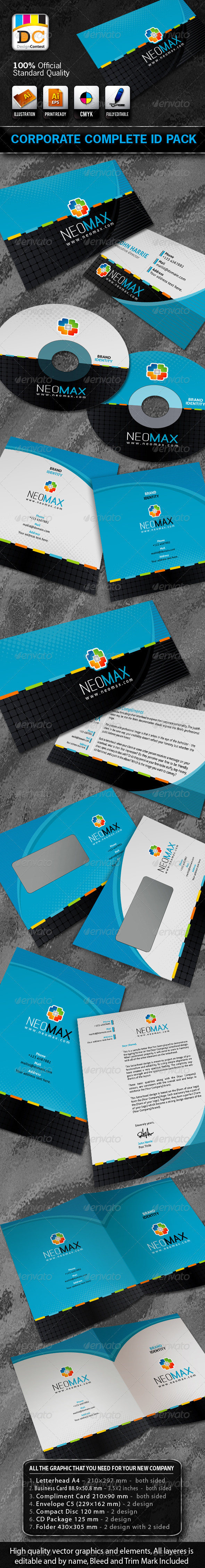 Neo Max Corporate Complete ID Pack - Stationery Print Templates