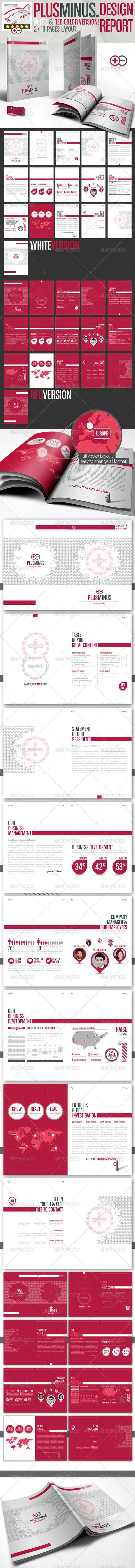 GraphicRiver Corporate Brochure PLUSMINUS A4 2 Color Version 2615723