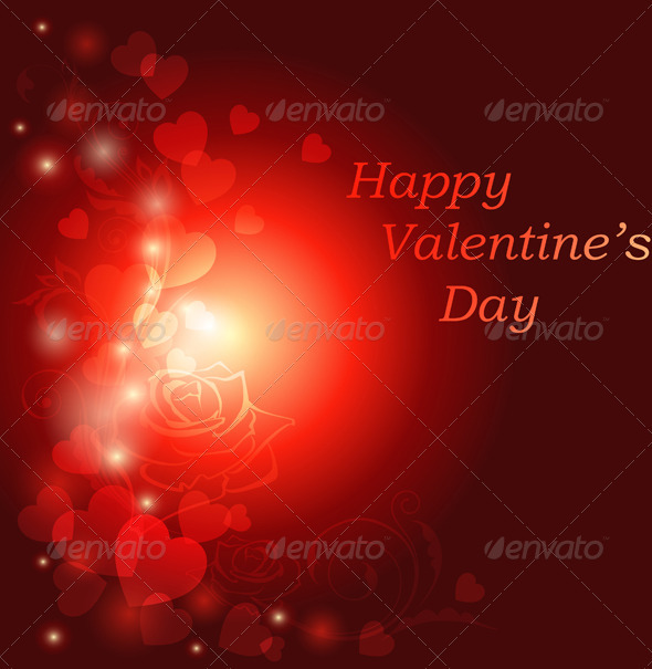 Red Valentine s Day Greeting Card