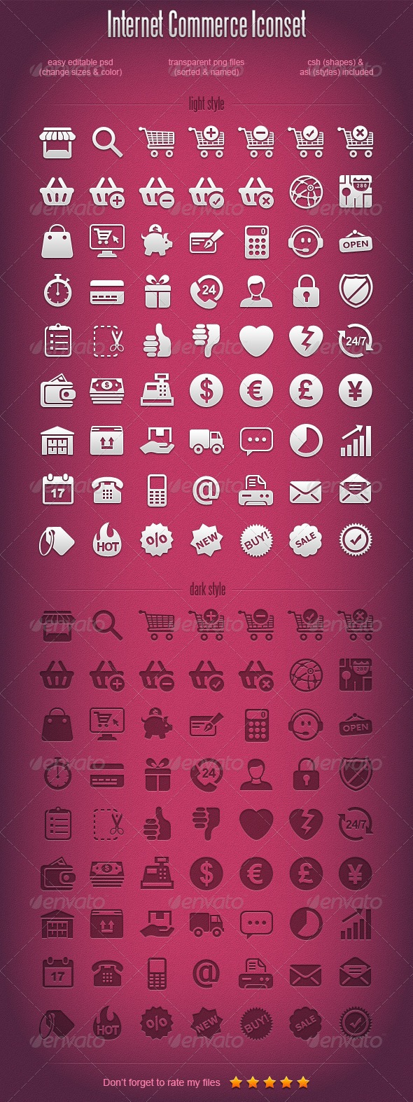 E commerce icons - Web Icons