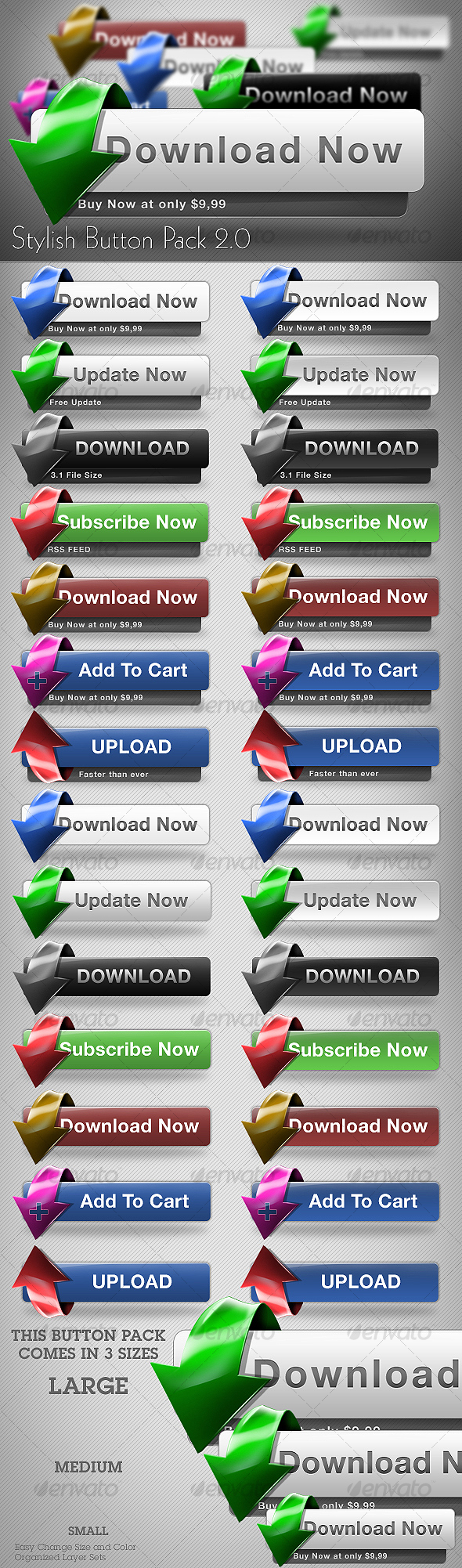 GraphicRiver Stylish Button Pack 2.0 82180