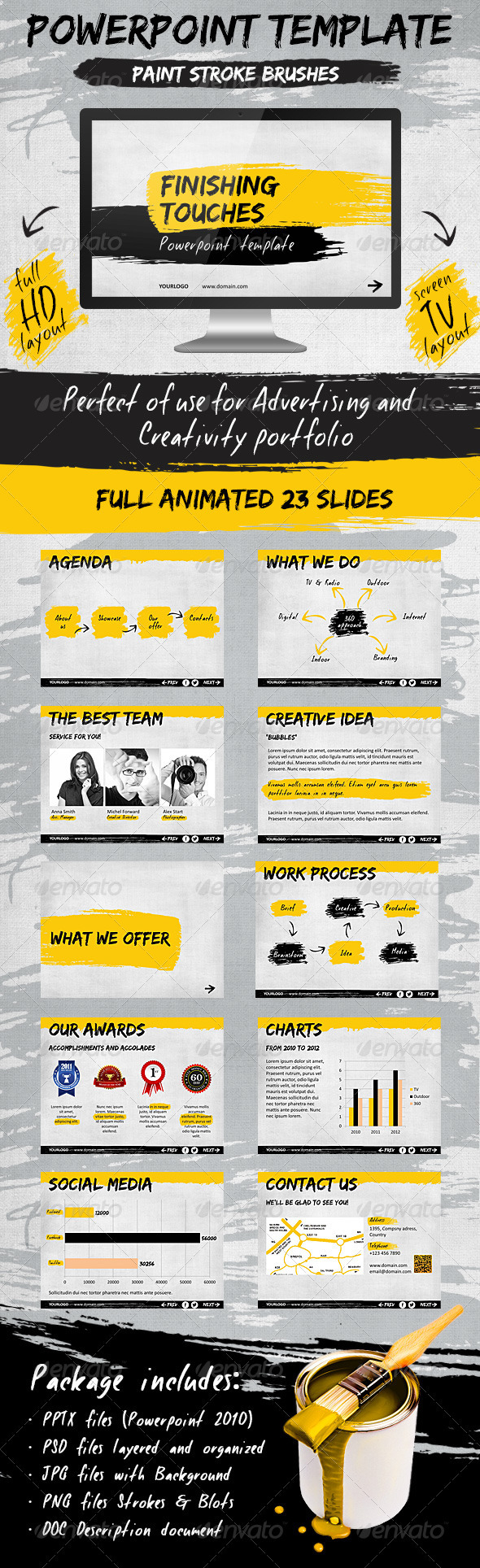 Finishing Touches Template - Powerpoint Templates Presentation Templates