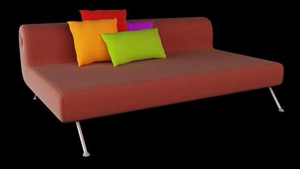 3DOcean Interior 3D Sofa And Pillows 2616109