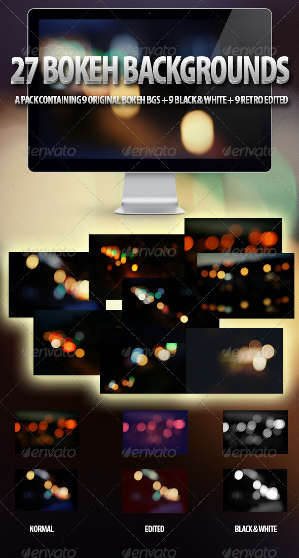 27 Bokeh Background Set - Abstract Backgrounds