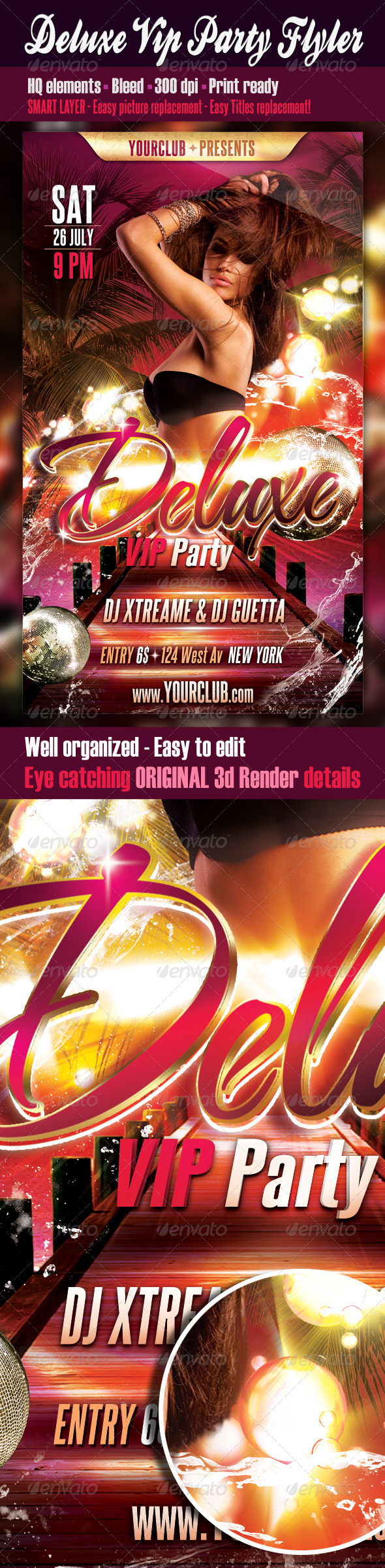 Deluxe Vip Party Flyer - Clubs & Parties Events
