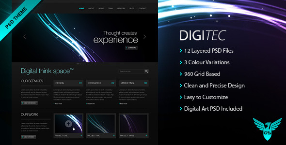 DigiTec PSD Theme
