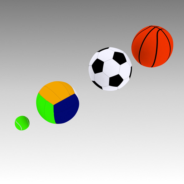 3DOcean 3D Sport Balls 2617181