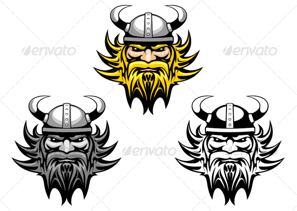 angry viking warrior as a mascot or tattoo related terms viking ...